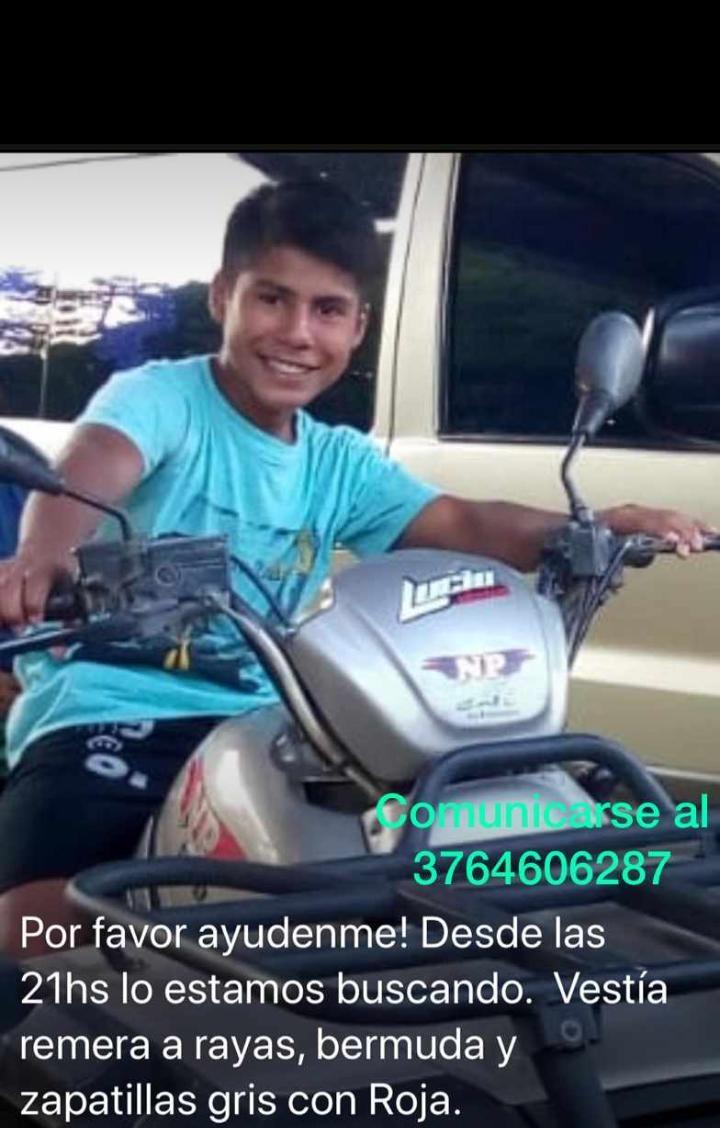 Buscan en Posadas a un adolescente de 13 años