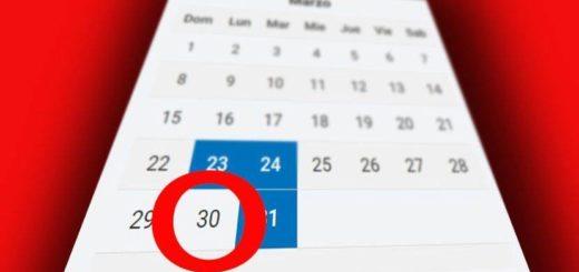 ¿Será feriado puente el próximo lunes 30 de marzo?