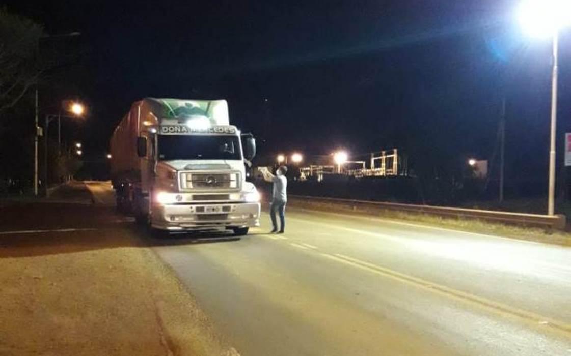 Coronavirus: Virasoro y un gesto solidario con los camioneros que circulan por la Ruta 14