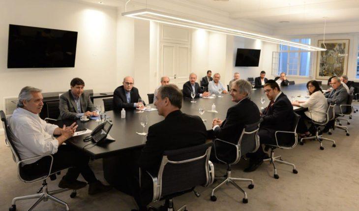 Coronavirus: el presidente Alberto Fernández recibió a representantes de la organización #SeamosUno