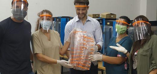 Coronavirus: docentes misioneros imprimieron protectores faciales para trabajadores sanitarios