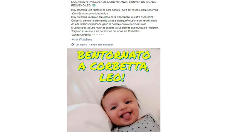 Bebé de 6 meses derrota al coronavirus; da esperanza al mundo