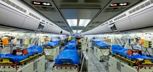 Así es el avión hospital que Alemania envió a Italia para recoger a enfermos de coronavirus