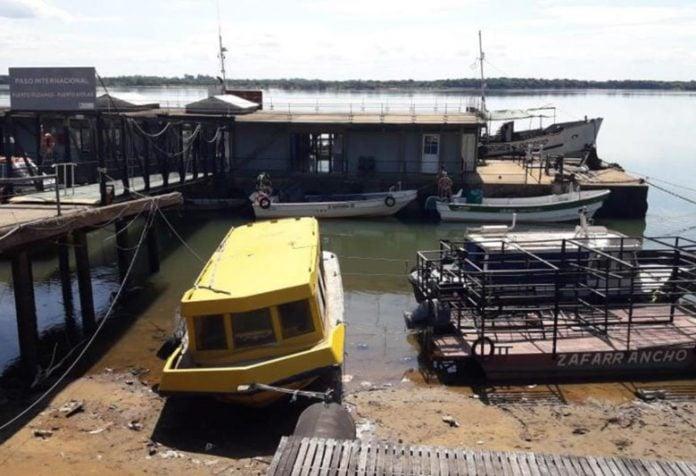 Corrientes: bajante histórica del río Paraná en Ituzaingó por el cierre de las represas brasileñas