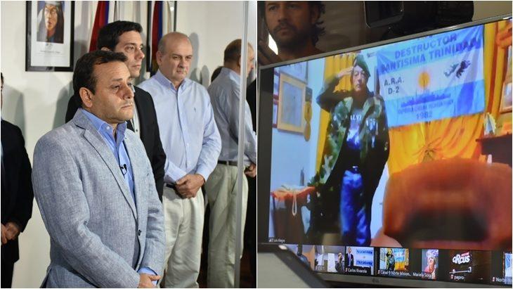 Experiencia inédita en el país: Oscar Herrera Ahuad homenajeó a los héroes misioneros de Malvinas en un acto virtual del que participaron vía streaming varios excombatientes