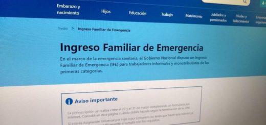 Hoy viernes a las 23.59 se cierra la preinscripción para cobrar el Ingreso Familiar de Emergencia (IFE)