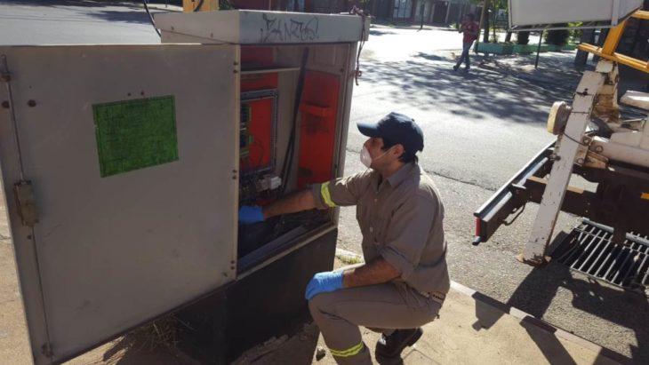La municipalidad de Posadas realizó trabajos de mantenimiento y cuenta con 234 semáforos en funcionamiento