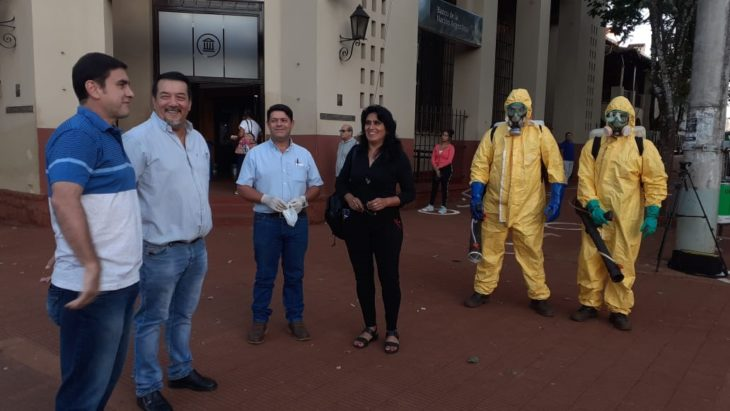 Coronavirus: en Eldorado realizaron un operativo conjunto de desinfección