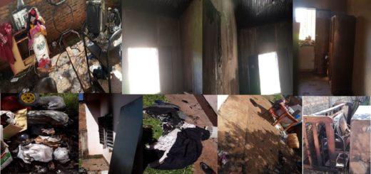 Producto de un corto circuito se incendió una vivienda en Posadas y la familia solicita colaboración de la ciudadanía