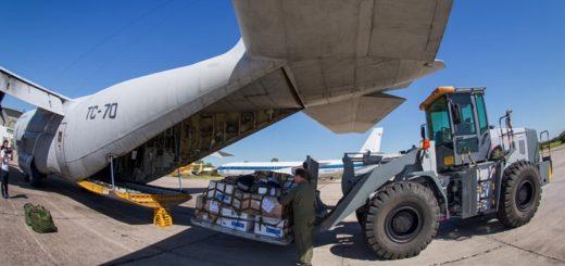 Coronavirus: un avión Hércules C-130 traslada respiradores y ecógrafos a las provincias
