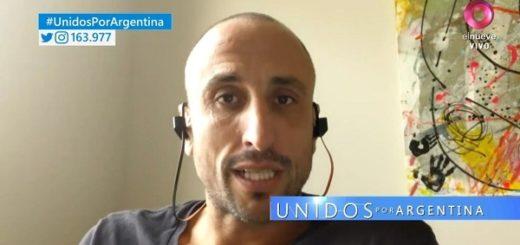 Unidos por Argentina: Manu Ginóbili pidió que se aprenda de los errores de Estados Unidos y que no se subestime la situación