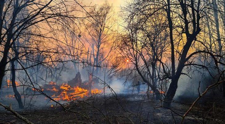 Un grave incendio en Chernobyl provocó un aumento de la radioactividad