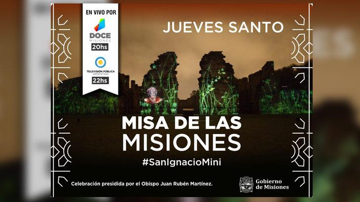 La tradicional Misa de Las Misiones se transmitirá por Canal 12 y la TV Pública desde la Reducción Jesuítica de San Ignacio
