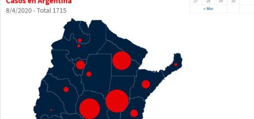 Coronavirus: mirá el mapa interactivo de los casos confirmados en Argentina, provincia por provincia