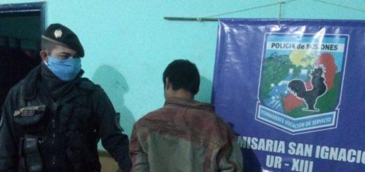 Atraparon a un joven tras un robo a una propiedad en San Ignacio