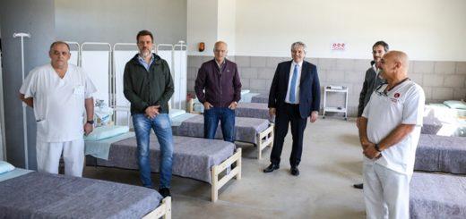 Coronavirus: el Presidente recorrió un hospital de campaña en Lanús
