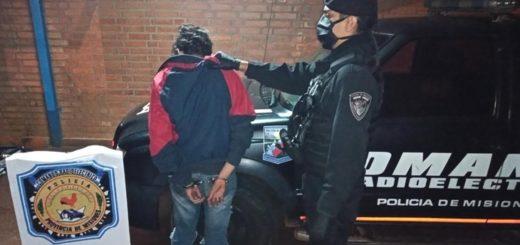 Posadas: intentó robar a un motociclista, se escondió en una casa ajena y terminó detenido
