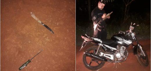 Eldorado: robó una moto, quiso escapar, agredió  a Policías y terminó detenido