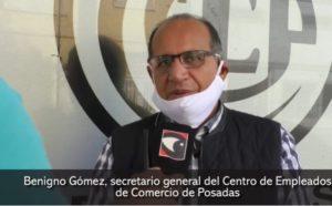 """#Coronavirus: comercios exceptuados de la cuarentena en Posadas pagaron los sueldos y hay dificultades en las pymes """"que se va resolviendo con la ayuda del Gobierno"""", aclaró Benigno Gómez"""