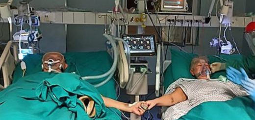Coronavirus: una pareja de ancianos celebró su aniversario de casados en el hospital