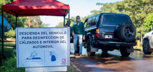 Coronavirus: Eldorado intensifica los trabajos de desinfección en los accesos a la ciudad