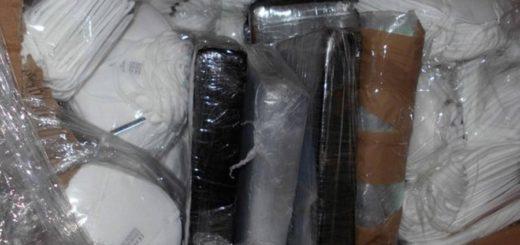 Coronavirus: encontraron cocaína valuada en más de un millón de dólares en una caja de barbijos