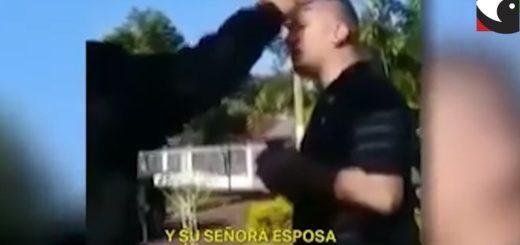 """Posadas: efectivos de la Policía de Misiones detuvieron el accionar irresponsable de un penitenciario que festejaba su cumpleaños en plena cuarentena, el involucrado intentó """"chapear"""" con su cargo"""