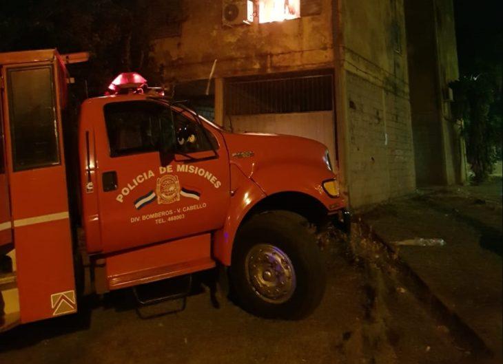 Se produjo un incendio en un departamento de Posadas