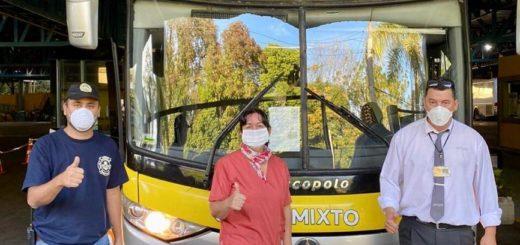 Coronavirus: partió hacia Buenos Aires un colectivo con argentinos que estaban varados en Misiones por la cuarentena
