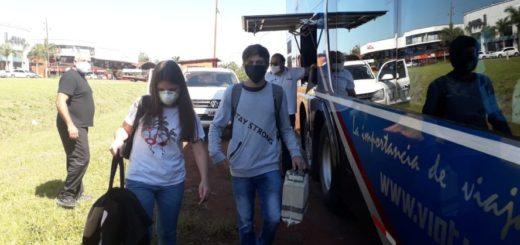 Coronavirus: 200 universitarios de la UNaM que estaban varados en Posadas, Oberá y Eldorado pudieron regresar a sus hogares