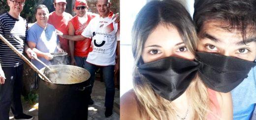 Héroes cotidianos: familia del barrio San Roque de Posadas pide colaboración para organizar ollas populares y recolectan insumos para fabricar barbijos