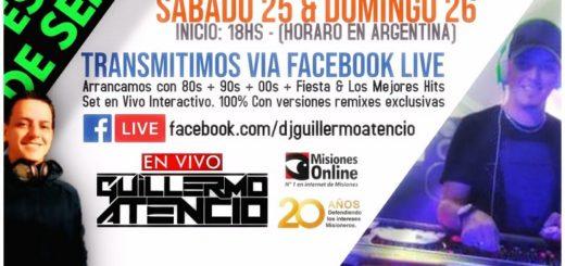 Este sábado y domingo bailá desde casa con el Dj Guillermo Atencio a través de Radio Libertad