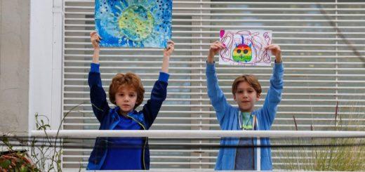 Coronavirus: niños del mundo enseñan sus dibujos durante la pandemia