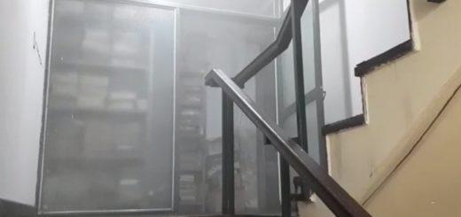 Producto de una fumigación aledaña, el ministerio de Ecología se inundó de niebla insecticida y se disparó una falsa alarma de incendio