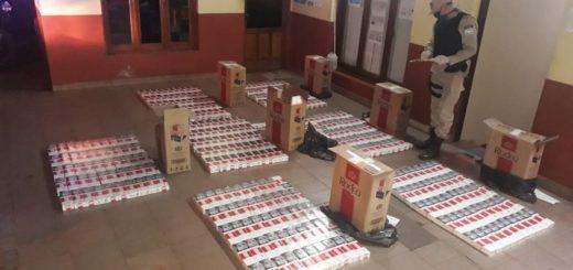 La Prefectura decomisó 7.500 paquetes de cigarrillos de contrabando, hay un detenido