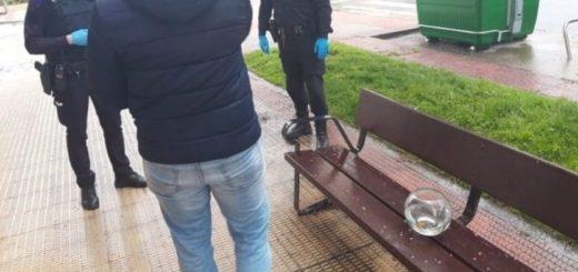 España: rompe el aislamiento por sacar a pasear a sus peces