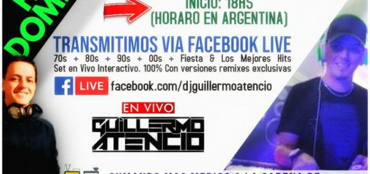 Este domingo se podrá seguir bailando desde casa con el Dj Guillermo Atencio
