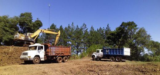 Vialidad Provincial trabaja en Ruta Provincial Nº 15 y en caminos rurales de San Javier