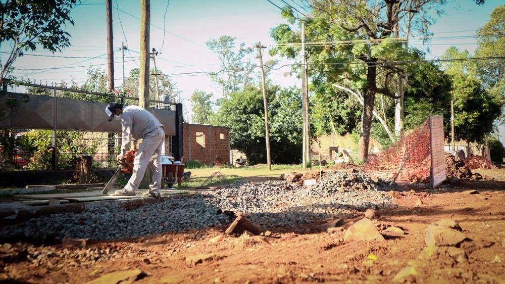 Siguen las obras para evitar inundaciones en el barrio Sur Argentino de Posadas