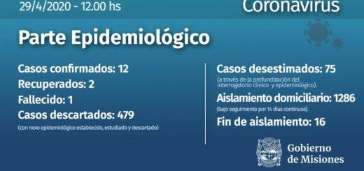 Coronavirus: se han descartado 479 casos en Misiones