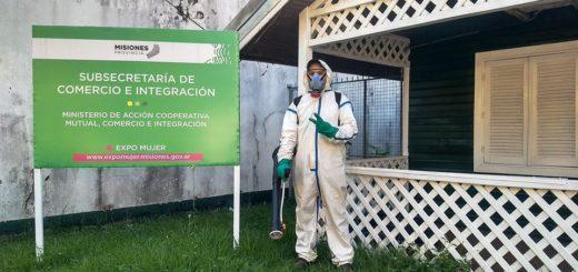 Reforzando la campaña contra el dengue, fumigaron el Ministerio de Acción Cooperativa y Mutual