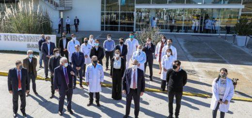 El Presidente recorrió dos hospitales que atenderán casos de coronavirus