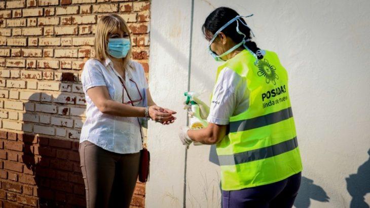 Coronavirus: se realizaron operativos de desinfección en cajeros automáticos, taxis y remises en Posadas