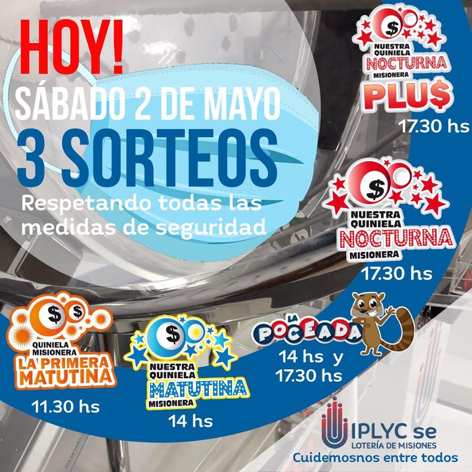 Coronavirus: con nuevos horarios para los sorteos, este sábado 2 volvió la quiniela del IPLyC