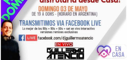 Coronavirus: el DJ Guillermo Atencio le pondrá música a este domingo a través de Radio Libertad
