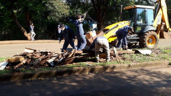 Posadas: equipos de limpieza concretaron operativo de descacharrado