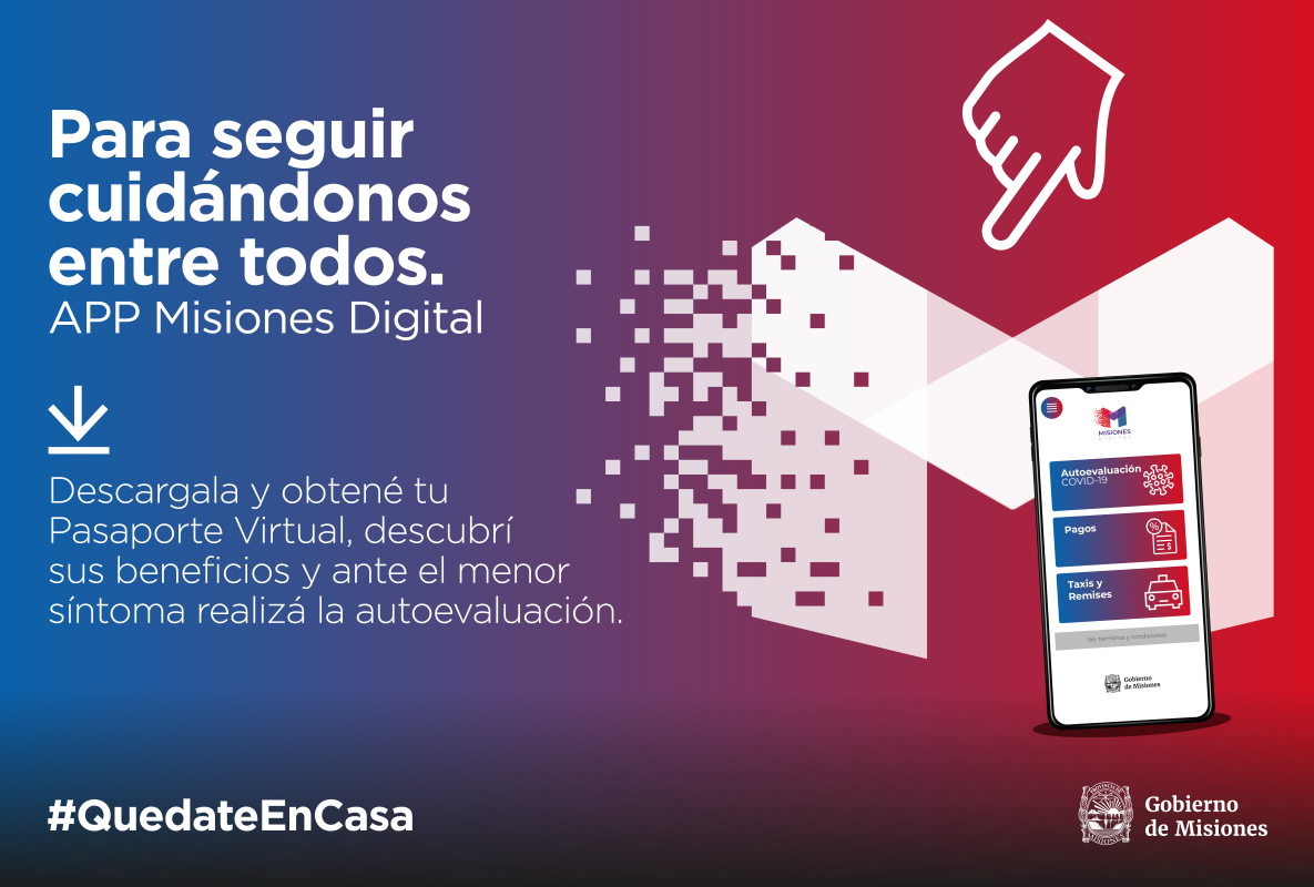 """Coronavirus: lanzan la aplicación """"Misiones Digital"""" para gestionar los permisos de salida desde el celular"""