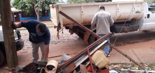 Posadas: continúan los trabajos de limpieza y descacharrizado para combatir el dengue