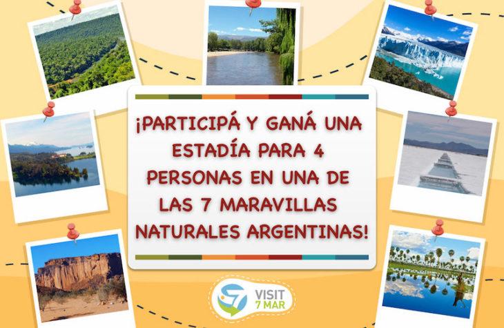Las 7 Maravillas Naturales Argentinas celebran hoy su primer aniversario regalando 7 estadías para cuatro personas que podrás disfrutar después de la cuarentena
