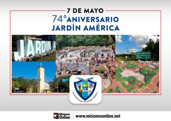 La localidad de Jardín América celebra hoy su 74° Aniversario